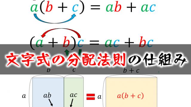 文字式の分配法則の仕組み
