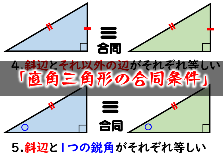条件 合同 直角 の 三角形