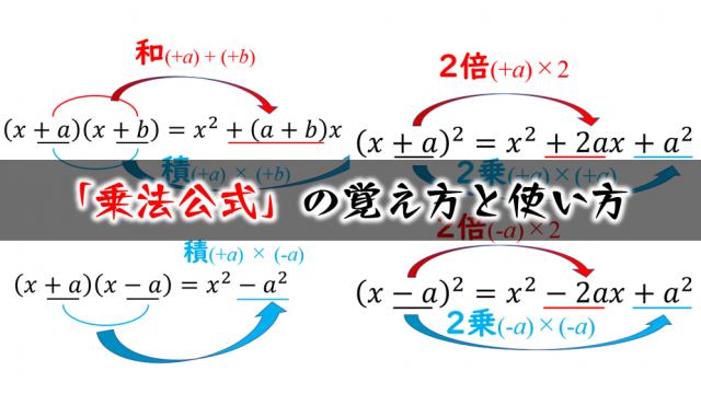 乗法公式(展開公式)の覚え方