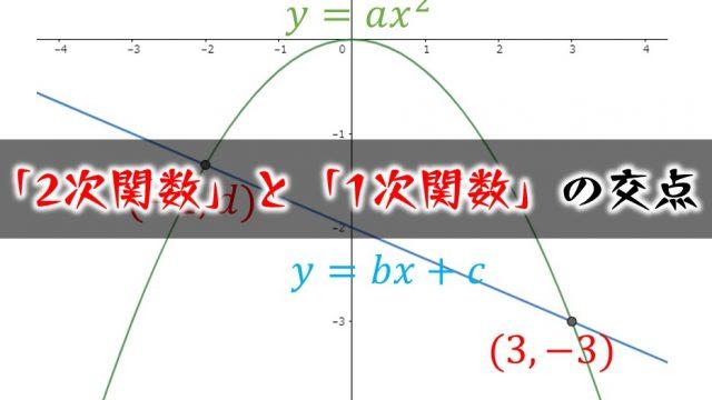 2次関数と1次関数の交点